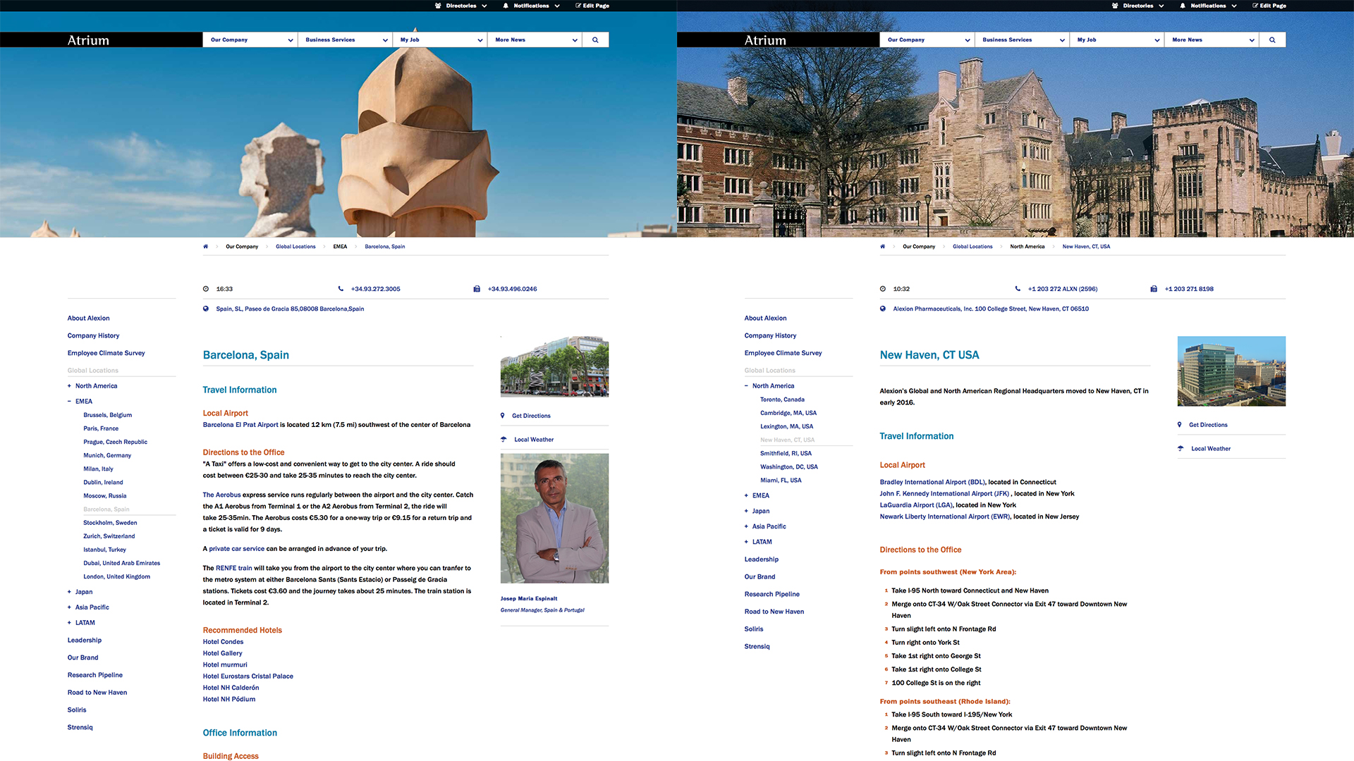 Alexion Corporate Intranet