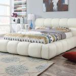 Acme Furniture 25047 White Platform Eastern King Platform Bed Frame Cloud Padded