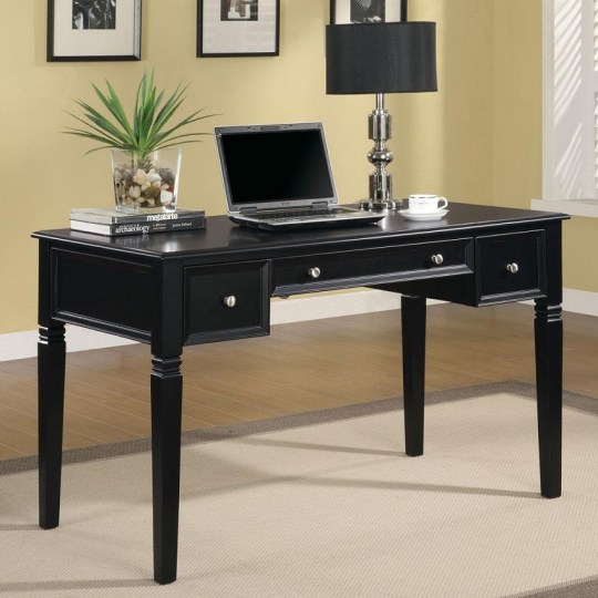 Furniture Outlet  computer desk  writing desk  computer storage     Tempest Desk 800913 Black Desk