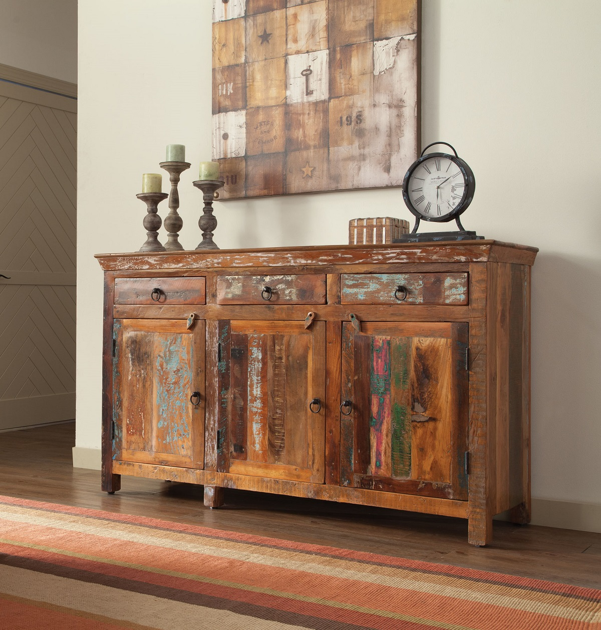 Large Wooden Coffee Table Drawers