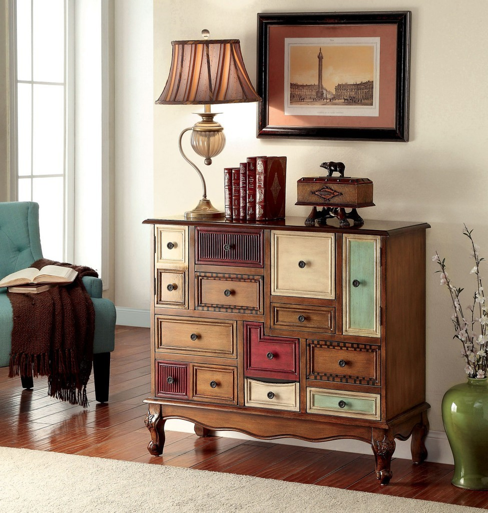 Furniture Of America AC149 Multi Color Drawer Accent Chest
