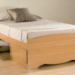 Prepac Maple Twin Platform Storage Bed 3 Drawers Mbt4100 Furniture Outlet Mor Jeromes Furniture Warehouse