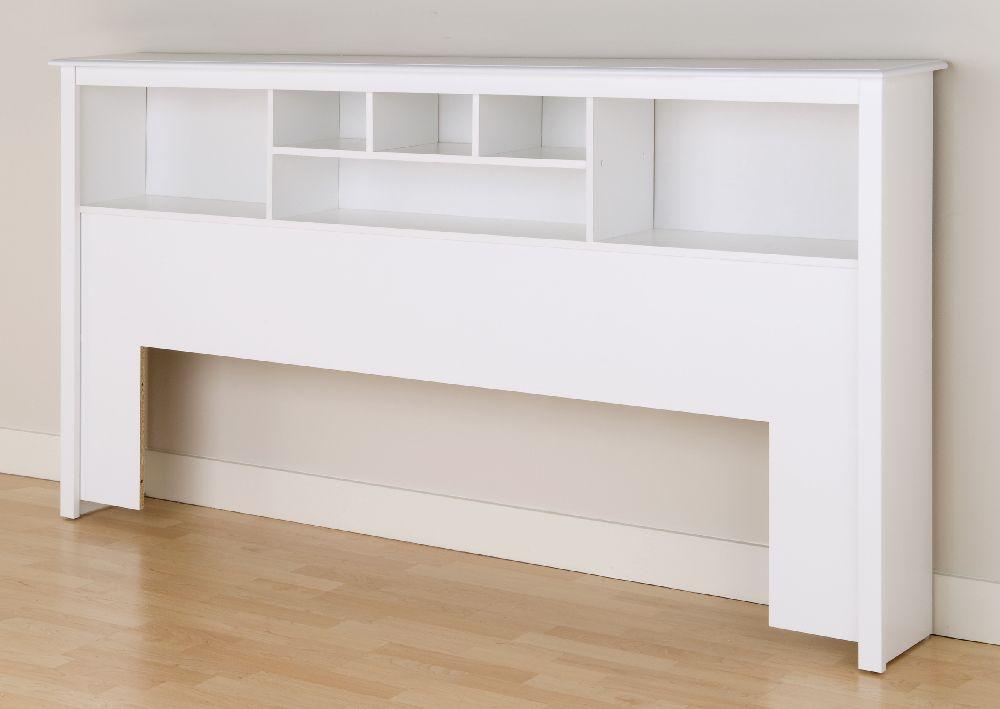 white eastren king bookcase headboard wsh8445