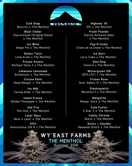 Wy'East Farms - The Menthol - menu Summer 2019