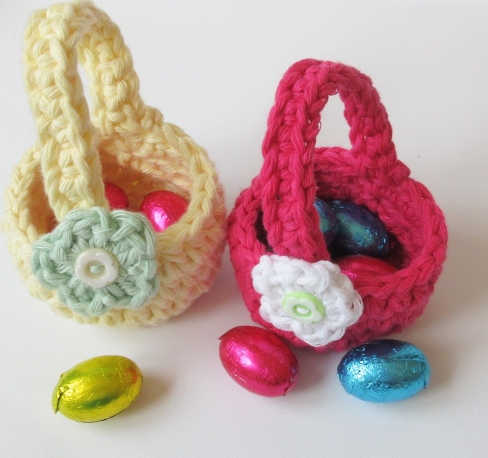 Easter Baskets with Chocolate eggs