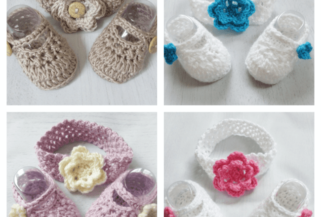 Newborn Baby Shoes And Headband Sets