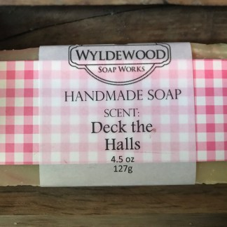 Deck the Halls scented soap with goat milk