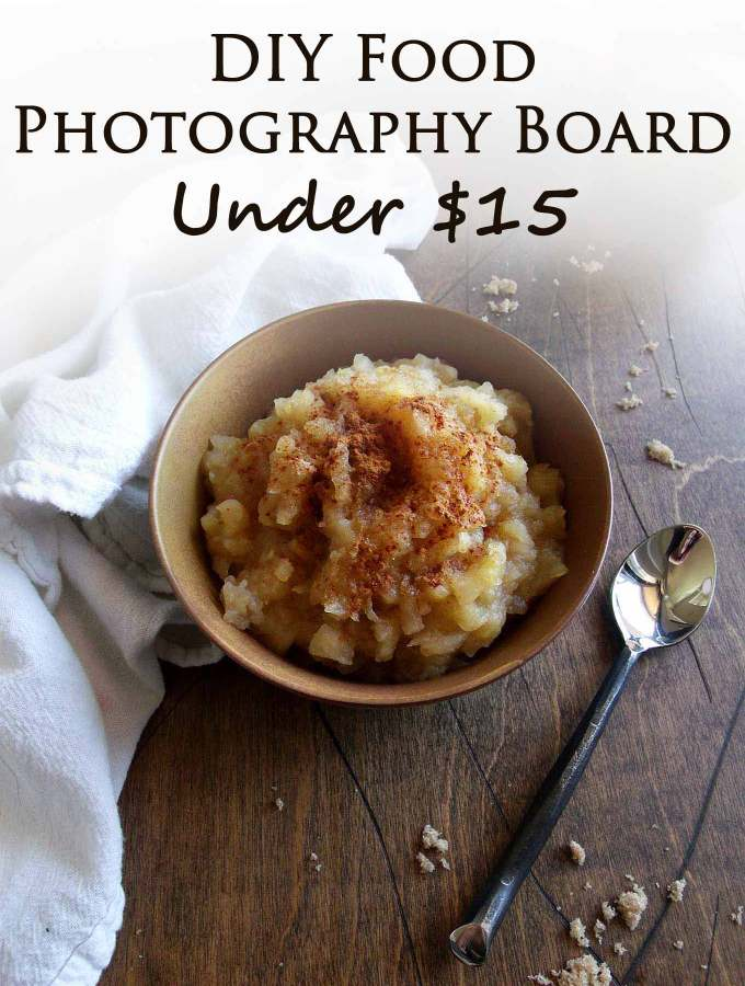 DIY Food Photograph Board - Under $15