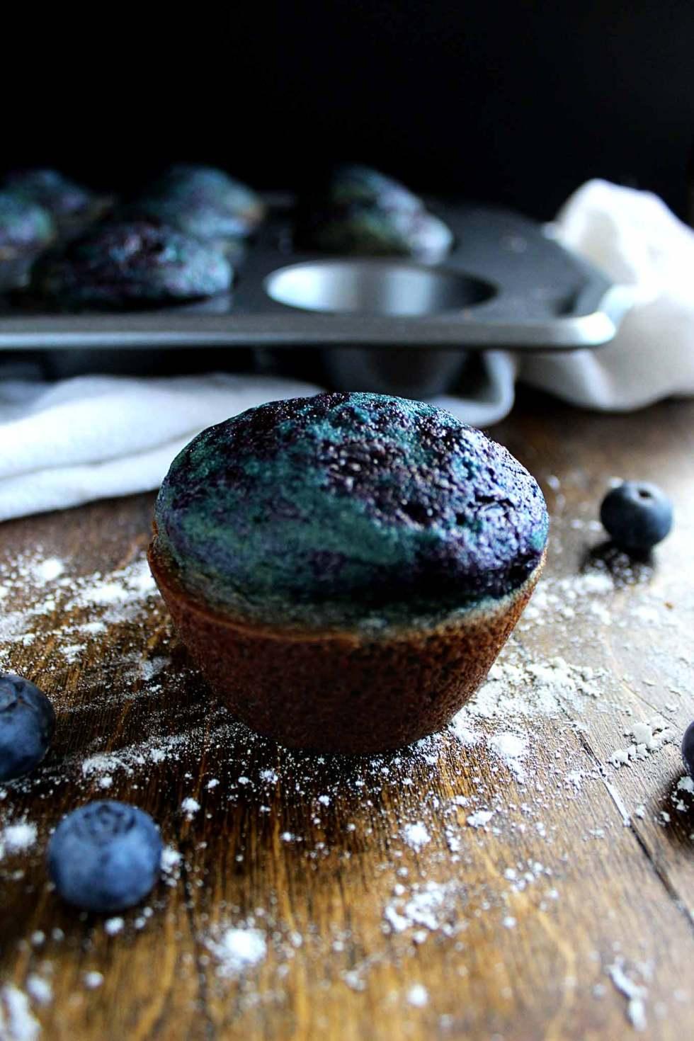 Blueberry Swirl Muffins | Blueberry Muffins | Easy Blueberry Muffins | Healthy Muffin Recipe
