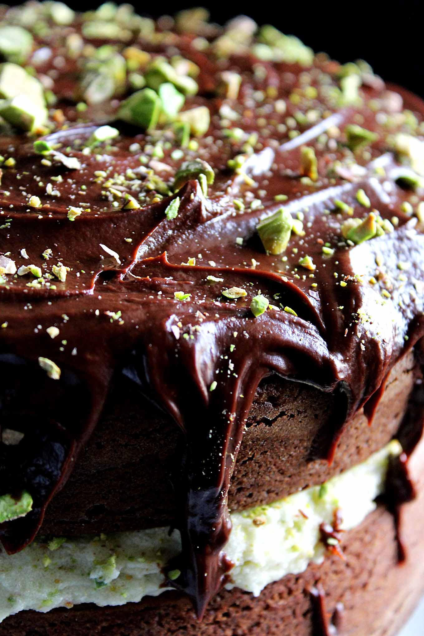 Chocolate Orange Cake with Pistachio Mascarpone Filling and ...