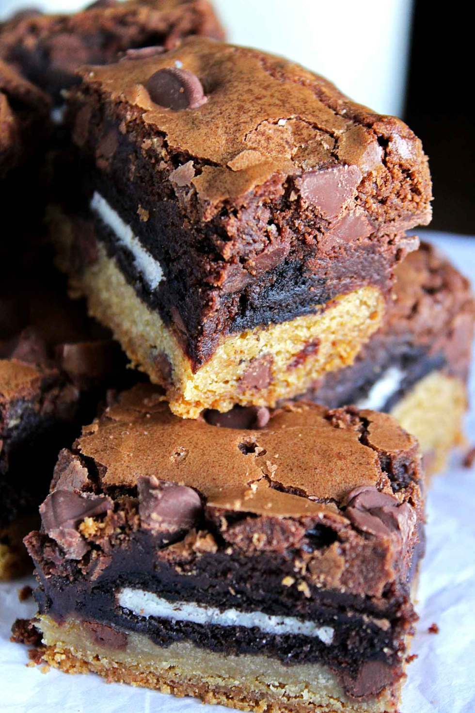 Slutty Brownies | Oreo Brownies | Chocolate Chip Cookie Brownies | Brownies with Oreo and Chocolate Chip Cookies | Easy Brownies | Very Best Brownies