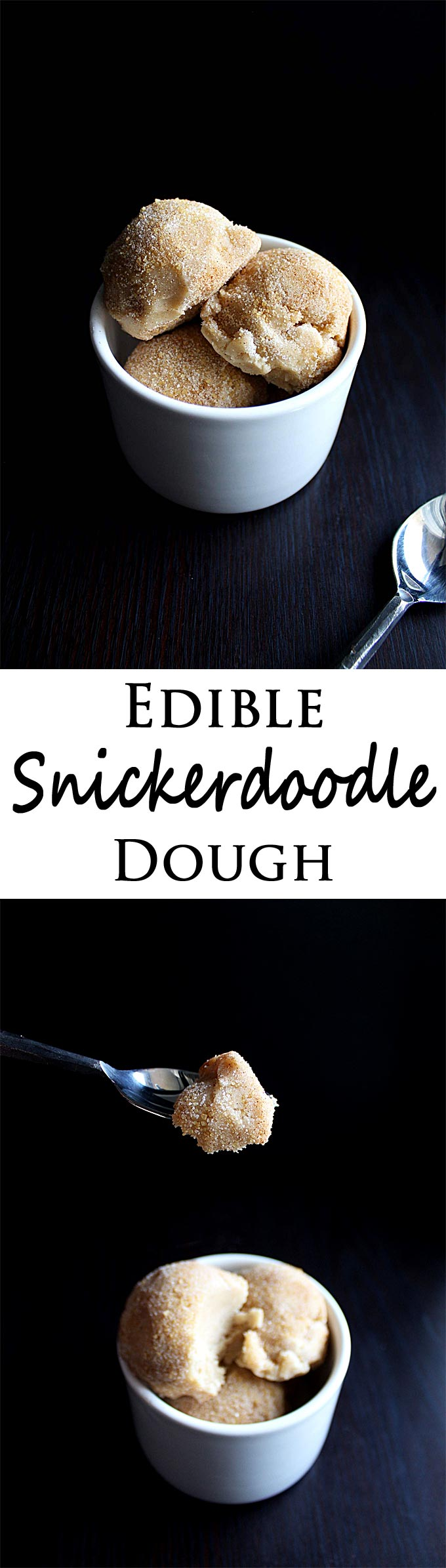 Edible Cookie Dough | Eggless Cookie Dough | Snickerdoodle Dough | Dessert | Cinnamon Sugar