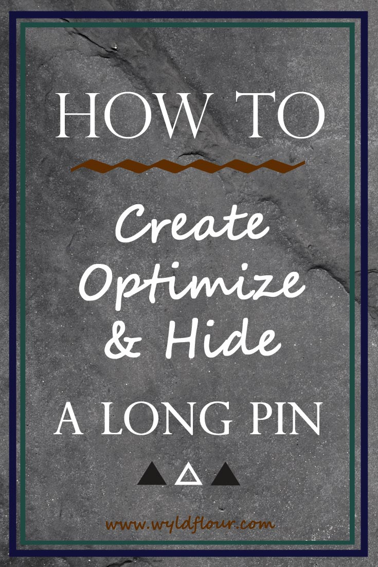 How to Create A Long Pin in Photoshop | Vertical Pinterest Image | How to Hide A Long Pin in WordPress