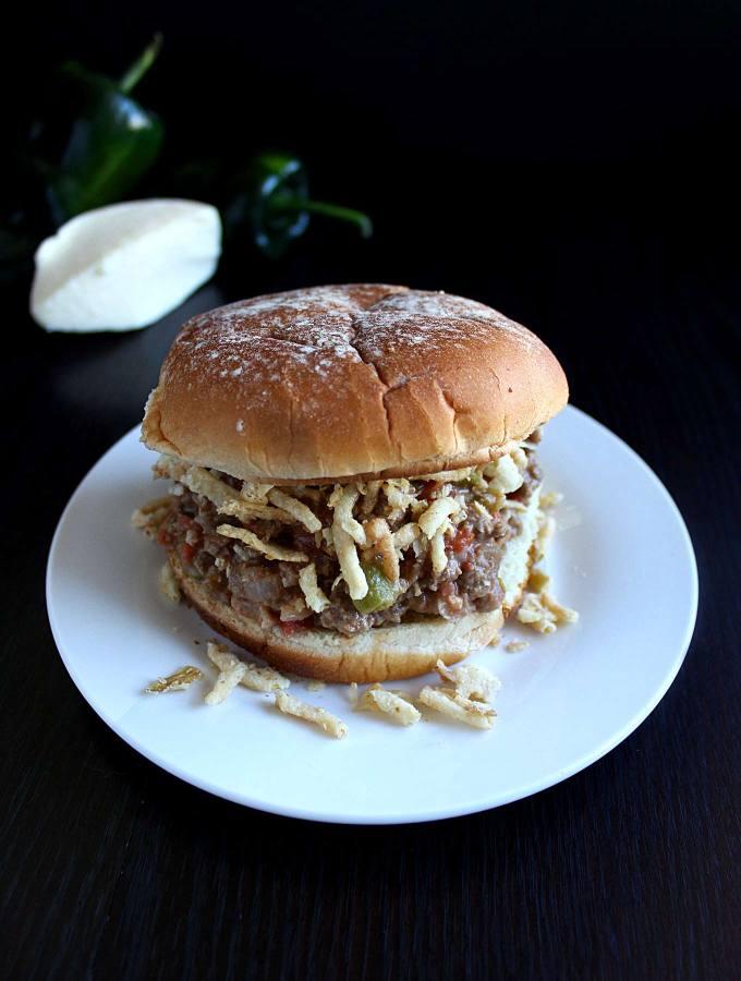 Chile Relleno Sloppy Joes Recipe | Easy Dinner | Easy Sloppy Joes | Dinner Under 30 Minutes | Mexican Sloppy Joes