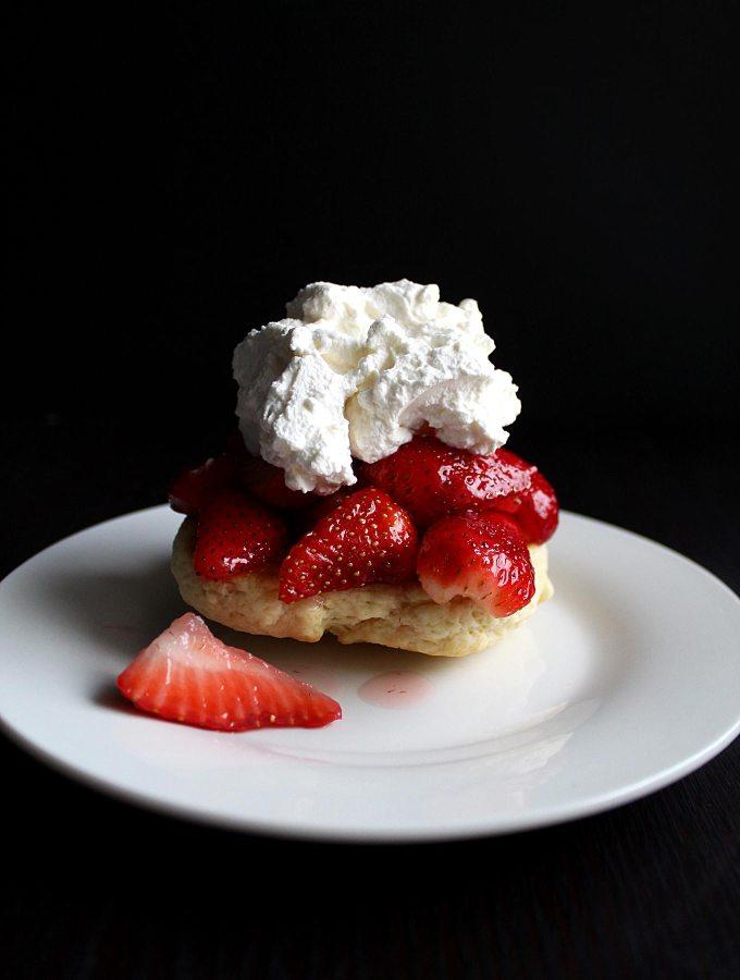 Homemade Strawberry Shortcake   Homemade Biscuits   Shortcake Recipe   Dessert   Valentine's Day