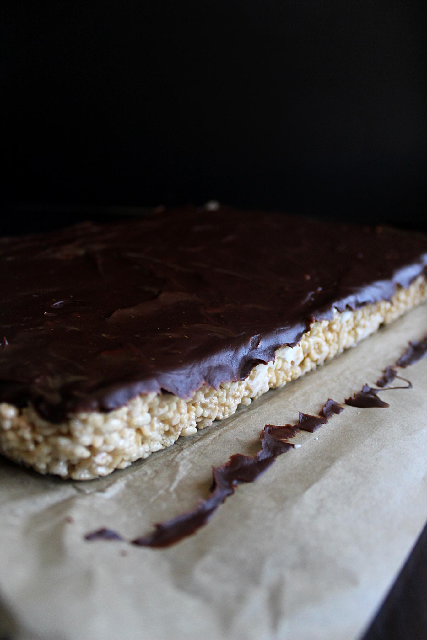 Marshmallow Rice Krispie Treats with Chocolate Ganache | wyldflour
