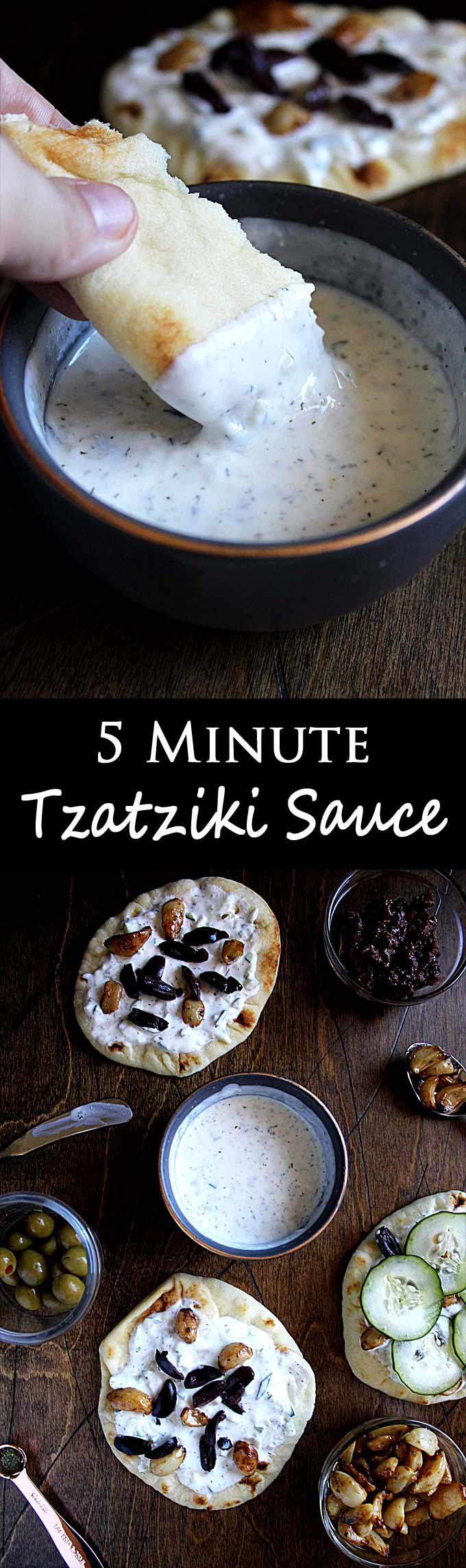 5 Minute Tzatziki Sauce | Greek Tzatziki Recipe | Cucumber | Dill | Easy | Gyros
