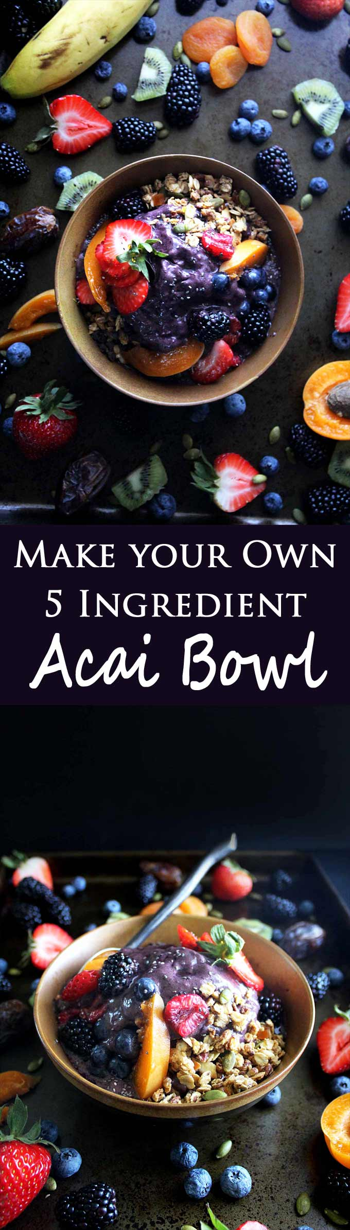 Make your own healthy acai bowl with your favorite fruits and this easy recipe!