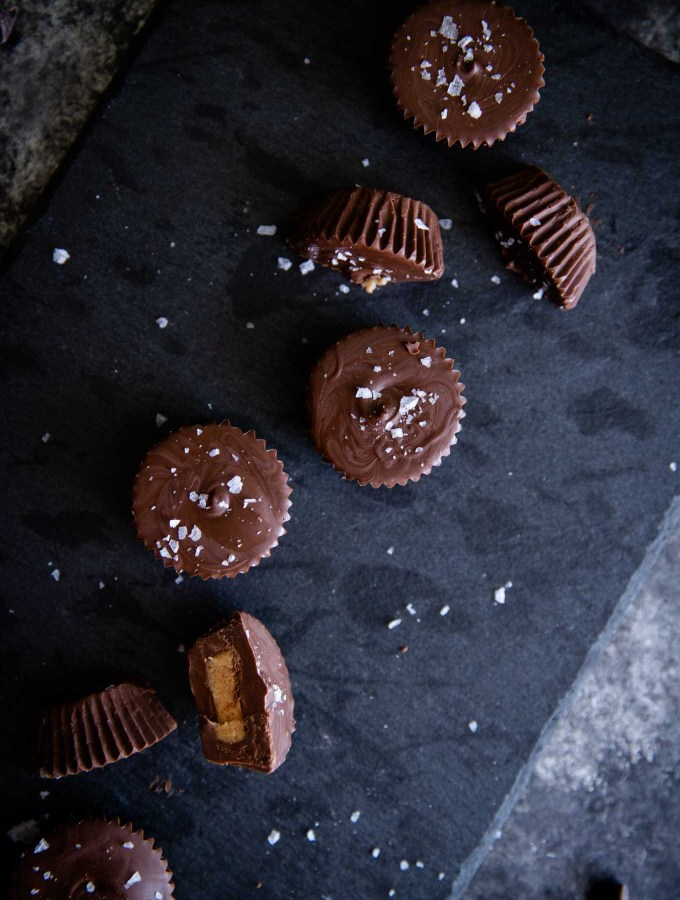 Homemade chocolate peanut butter cups are the perfect sweet and salty snack!