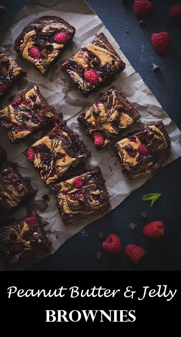 Peanut Butter Brownies | Chocolate Raspberry Brownies | Dessert | Easy Recipes