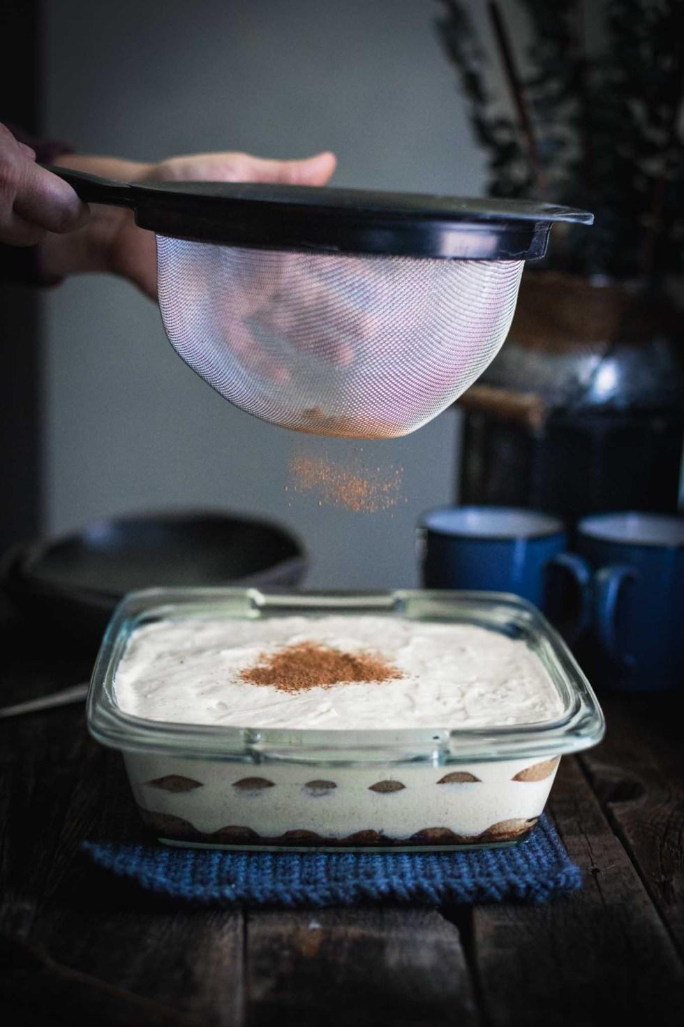 This recipe for chai tiramisu uses homemade chai spice and whipped mascarpone! This authentic recipes uses whipped eggs and no heavy cream.