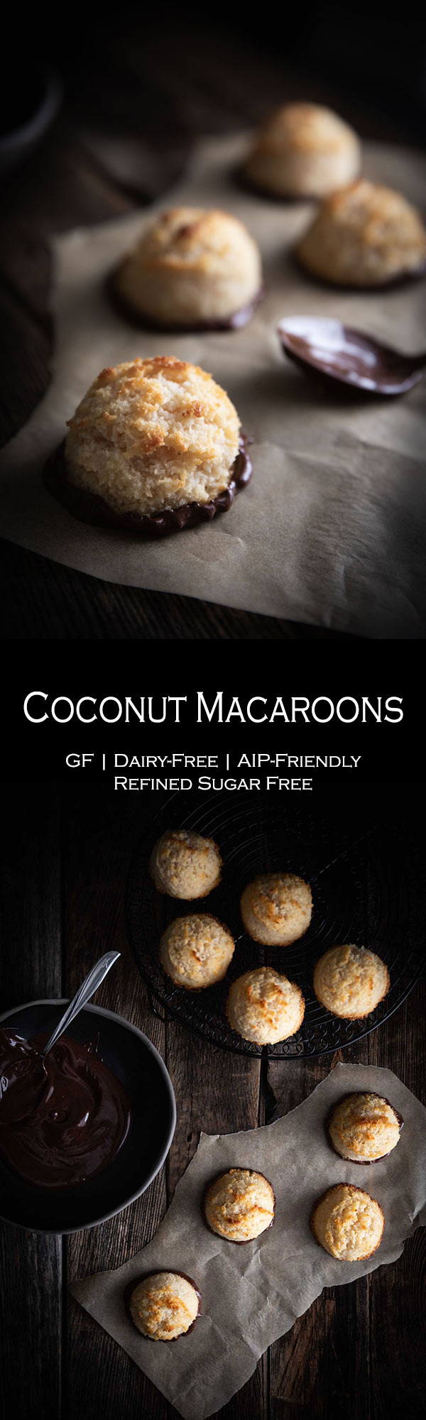Healthy Coconut Macaroons | made without sweetened condensed milk | Dessert Recipe | AIP Friendly | Gluten-free | Dairy-free | Refined sugar-free