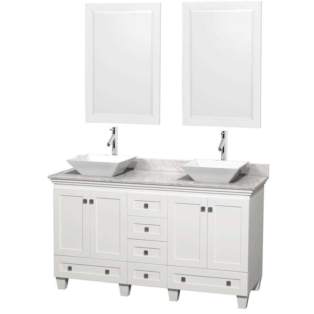 acclaim 60 double bathroom vanity for vessel sinks white