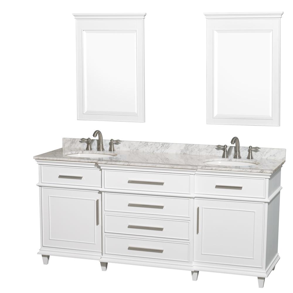 berkeley 72 double bathroom vanity white