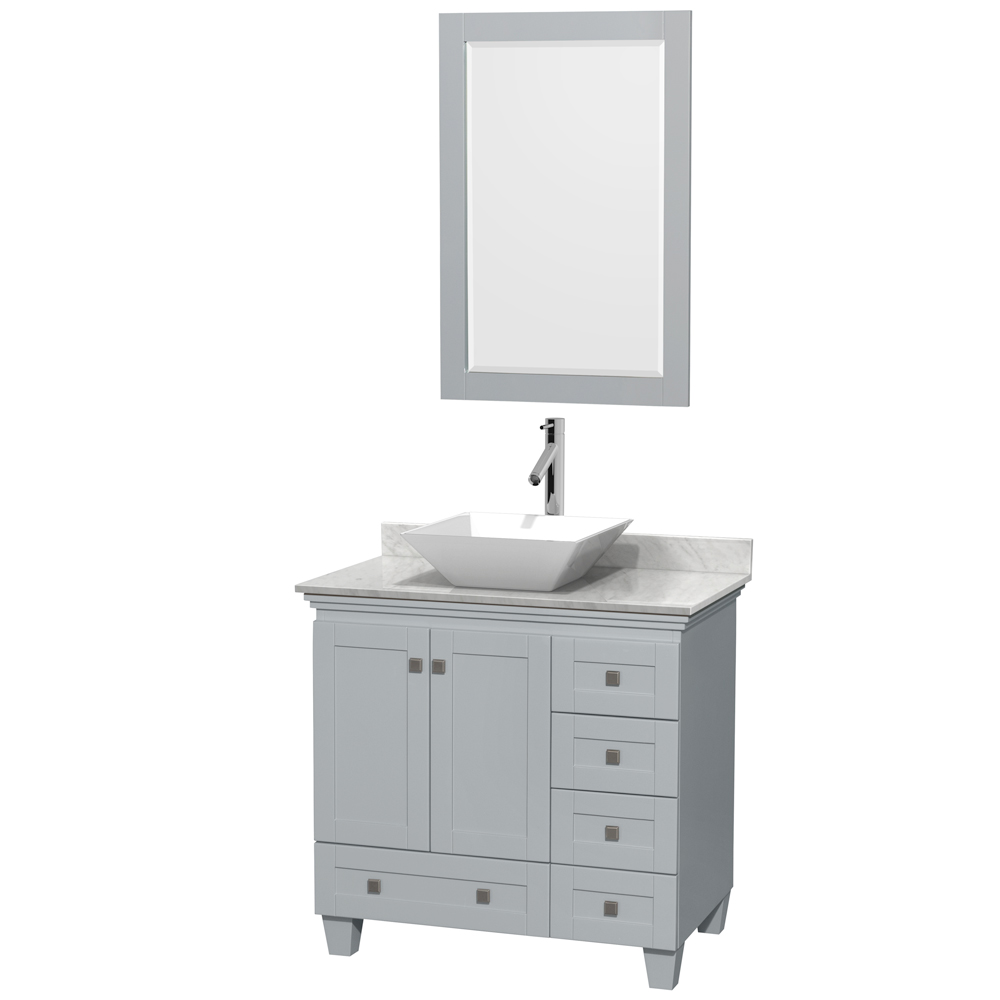 acclaim 36 single bathroom vanity for vessel sink oyster gray