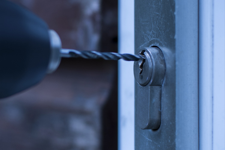 When should a lock be drilled?