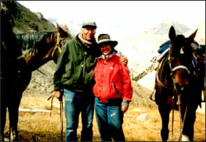 Tory & Meredith on Polychrome Pass <br>Image courtesy of the Taylors