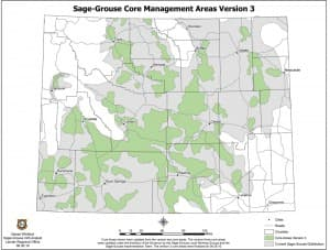 Sage Grouse Core Areas Map