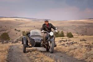John Mionczynski with BMW motorcycle