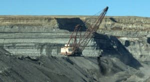 Coal mining at the Northern Antelope Rochelle Mine in Gillette, Wyoming.