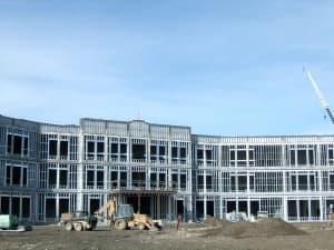 Sheridan Junior High under construction