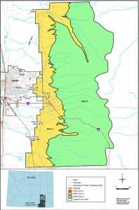 Location of the Casper Aquifer Protection Area