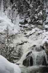 A waterfall in Yellowstone takes on a chilly new appearance in the winter