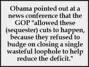 Barack Obama quote on sequester