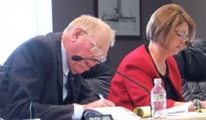 Sen. Charles Scott (R-Casper) and Rep. Elaine Harvey (R-Lovell)