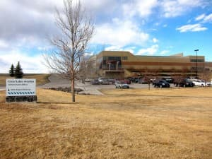 The Great Lakes headquarters is a $4.4 million publicly-funded building leased from the Cheyenne Regional Airport. (WyoFile/Gregory Nickerson — click to enlarge)