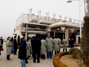 This plant in Jincheng China is the largest methane gas-fired power plant in the world. The methane is harvested from local underground coal mines. (Courtesy Olivia Meigs)