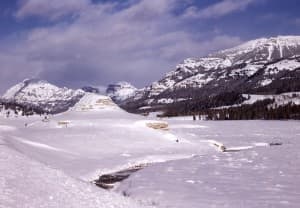 Yellowstone's Soda Butte in the winter. (R Robinson, courtesy Yellowstone National Park — click to view)