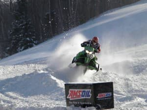 Kaden Woodie races in a sno cross event in Michigan. Woodie's dad Paul Woodie is working to host a race near Alpine this winter on the Bridger-Teton National Forest. (Photo courtesy Kym Woodie)