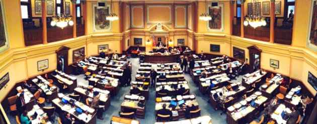 A bill to call a special session to draft legislation regarding the duties of the Superintendent of Public Instruction died in the Wyoming House of Representatives today. (WyoFile/Gregory Nickerson — click to enlarge)