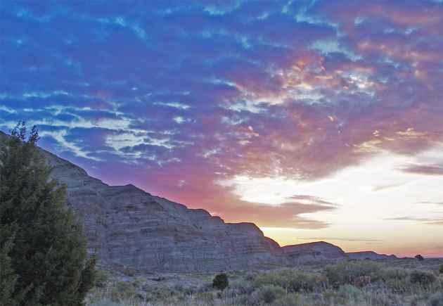 Sunset in the Red Desert