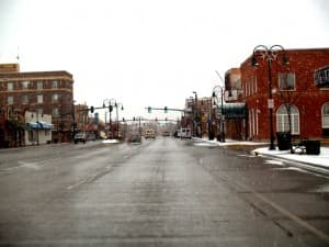 Main Street in Riverton, Wyoming. A recent EPA decision ruled that Riverton is part of the Wind River Indian reservation. (Charles Willgren/Flickr — click to enlarge)