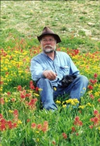 Loring Woodman, in the Gros Ventre Wilderness, circa 1995. Woodman operated a guest ranch, which he wanted to protect from timber harvest by designating the area as wilderness. (courtesy Loring Woodman — click to enlarge)