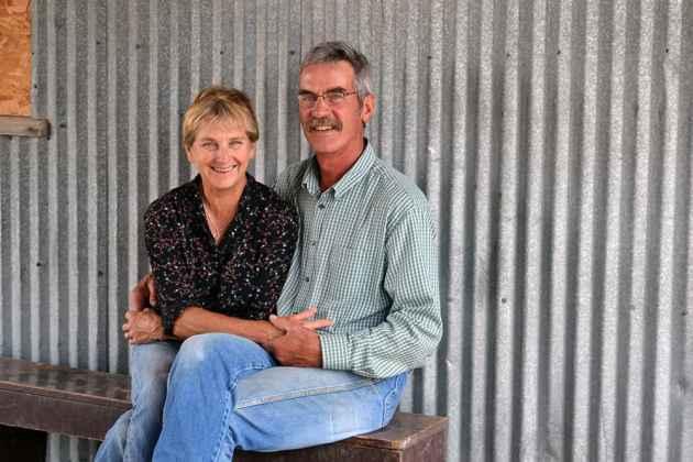 Maria and Skip sitting at the Barn