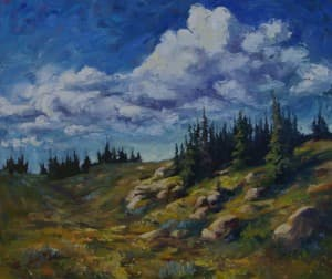 """""""Near Shell Creek Ranger Station"""" - by Sonja Caywood (click to enlarge)"""