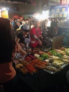 Xian outdoor market (click to enlarge)